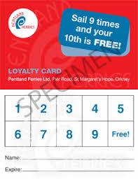 Pentland Ferries Loyalty Card